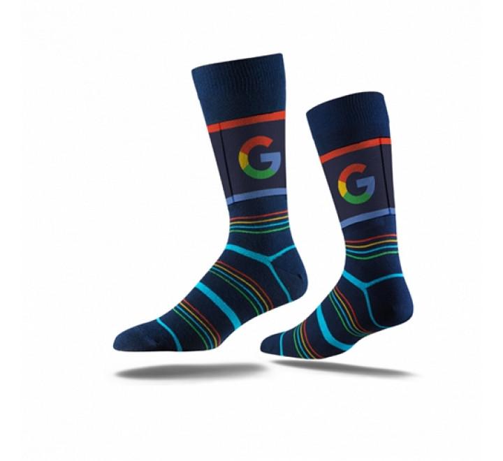 922-Business Printed Crew Socks