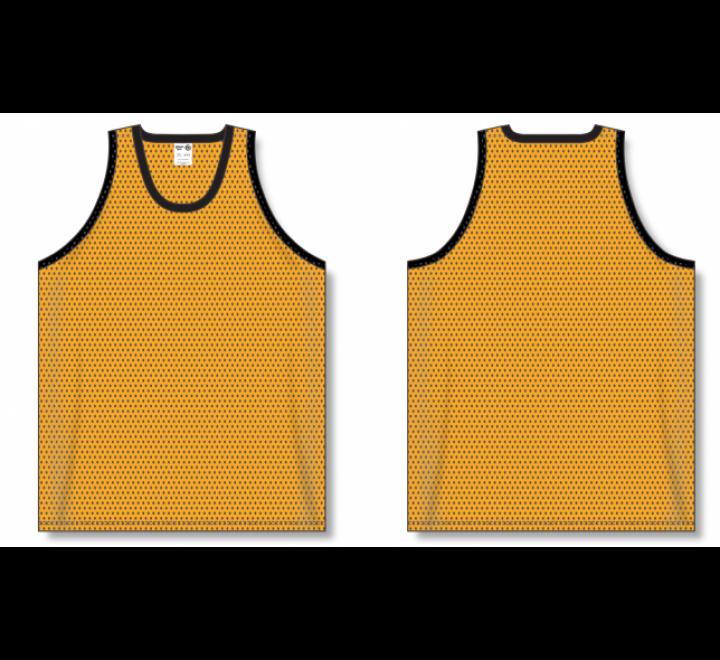 Polymesh TradItional Cut Basketball Jerseys - Gold
