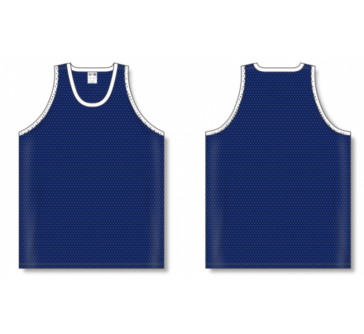 Polymesh TradItional Cut Basketball Jerseys - Navy