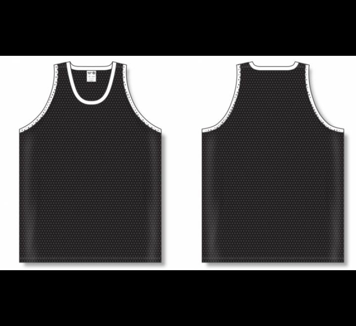 Polymesh TradItional Cut Basketball Jerseys - Black