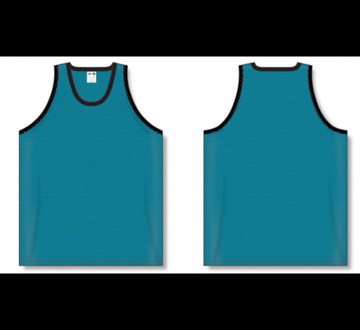 Polymesh TradItional Cut Basketball Jerseys - Teal