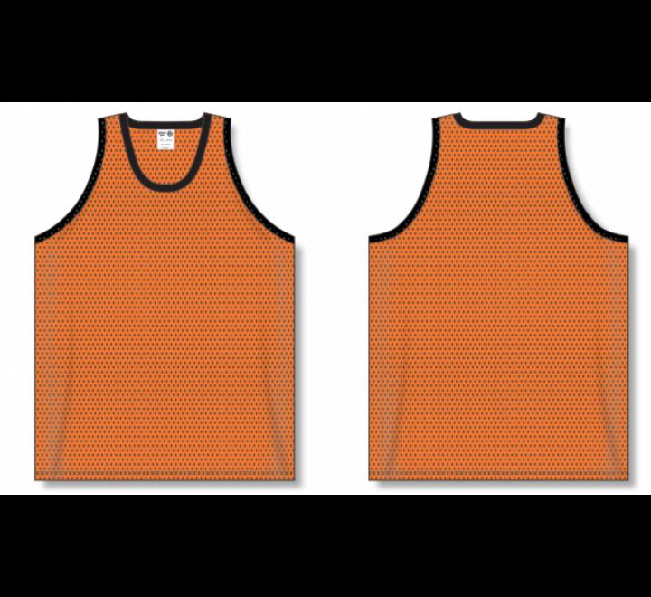 Polymesh TradItional Cut Basketball Jerseys - Orange