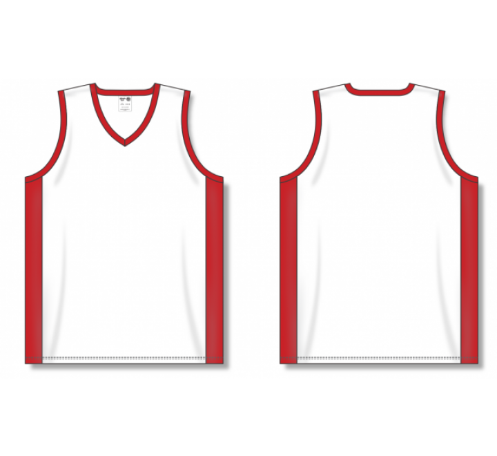 Dry-Flex Pro Cut with Inserts Basketball Jerseys - White/Red