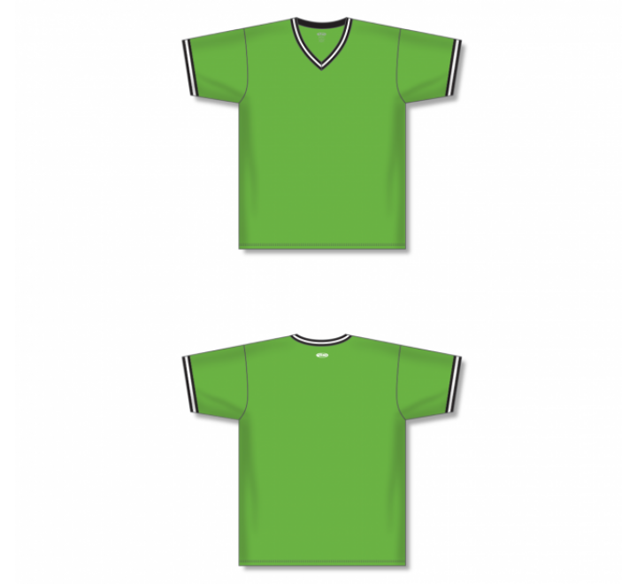 V-Neck Baseball Jersey - Lime Green