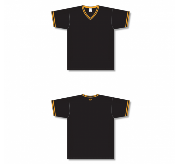 V-Neck Baseball Jersey - Black