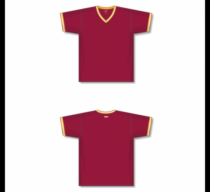 V-Neck Baseball Jersey - Av Red