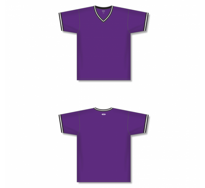 V-Neck Baseball Jersey - Purple