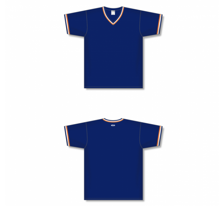 V-Neck Baseball Jersey - Navy