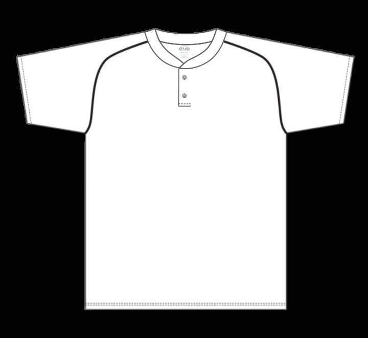 Two Button Baseball Jerseys - White/Black