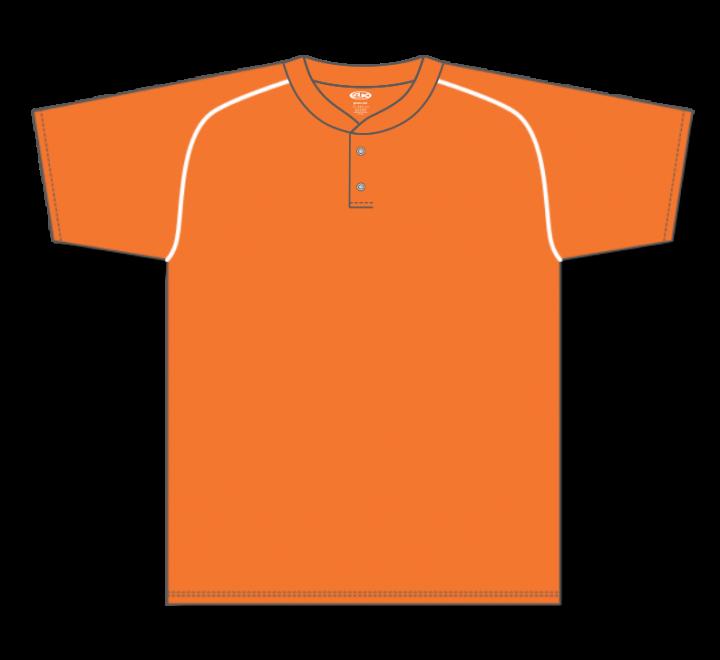 Two Button Baseball Jerseys - Orange/White