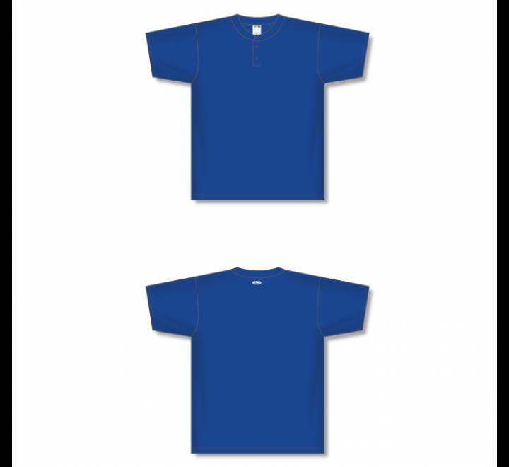 Two-Button Baseball Jersey - Royal