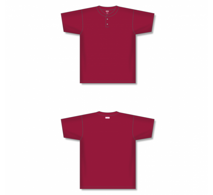 Two-Button Baseball Jersey - Av Red