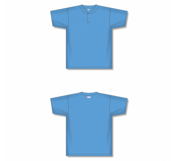 Two-Button Baseball Jersey - Sky