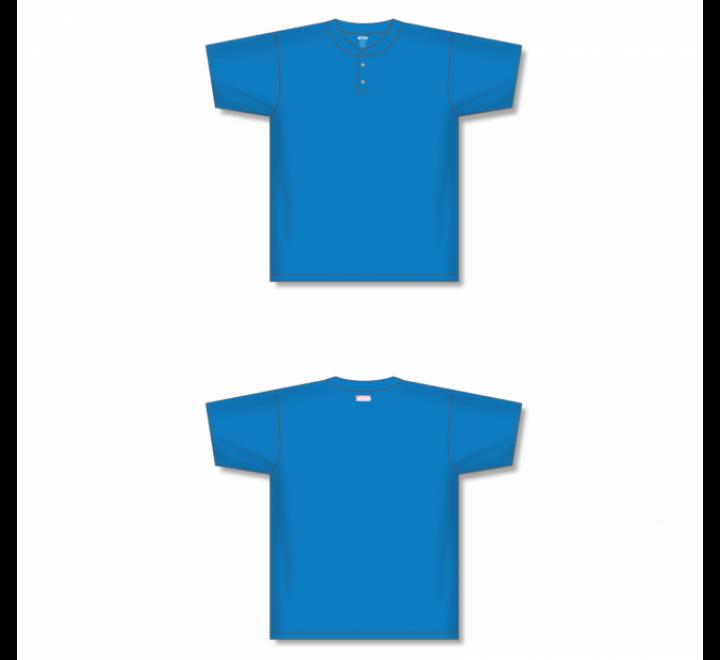Two-Button Baseball Jersey - Pro Blue