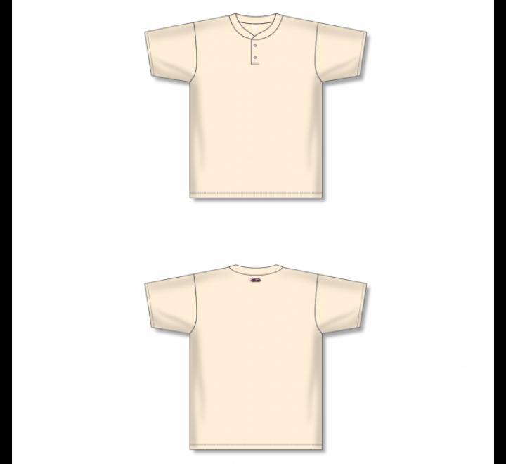 Two-Button Baseball Jersey - Sand