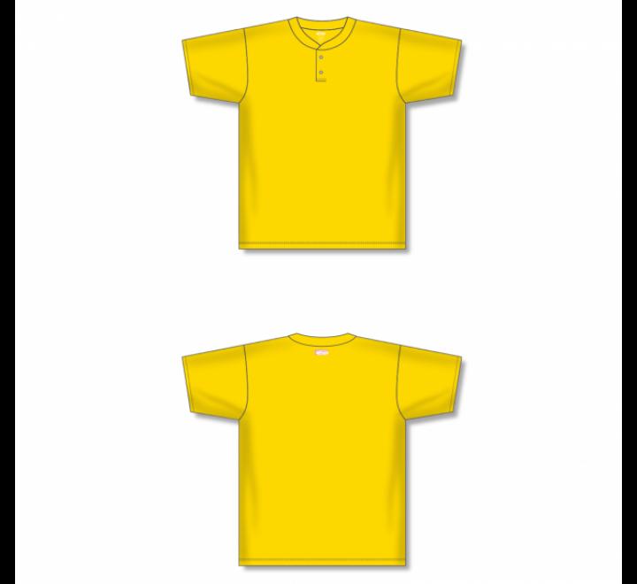 Two-Button Baseball Jersey - Maize