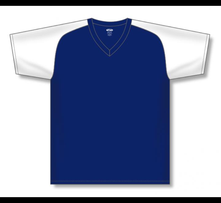 V-Neck Baseball Jerseys - Navy/White