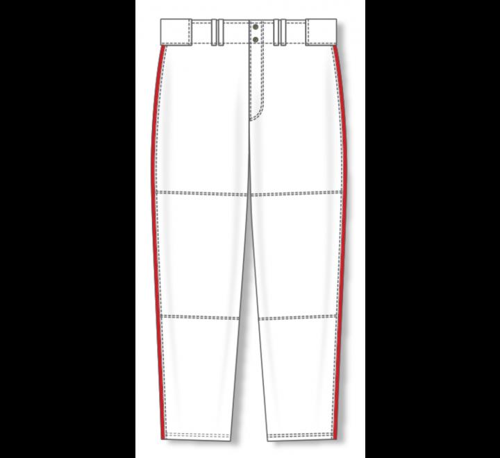 Baseball Pants - White/Red