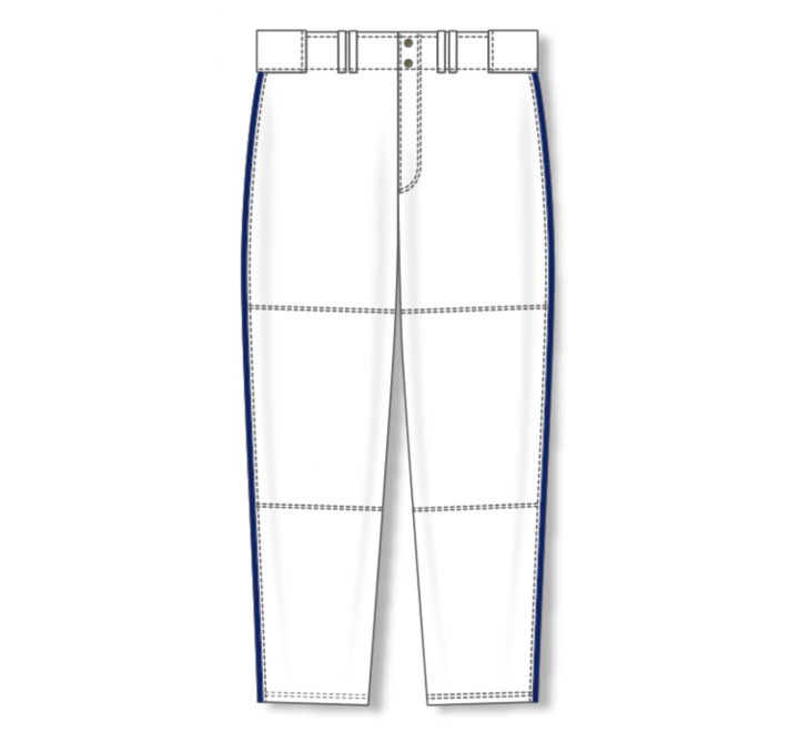 Baseball Pants - White/Navy
