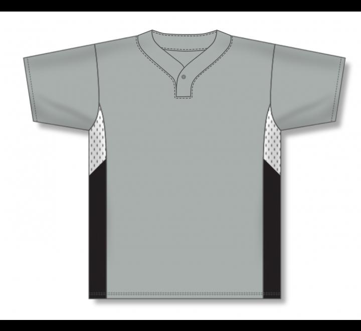 One Button Baseball Jerseys - Grey/White/Black