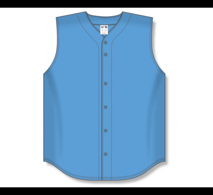 Full Button Baseball Jerseys - Sky