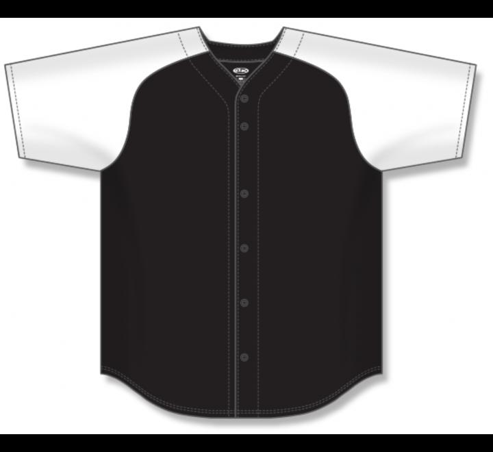 Full Button Baseball Jerseys - Black/White