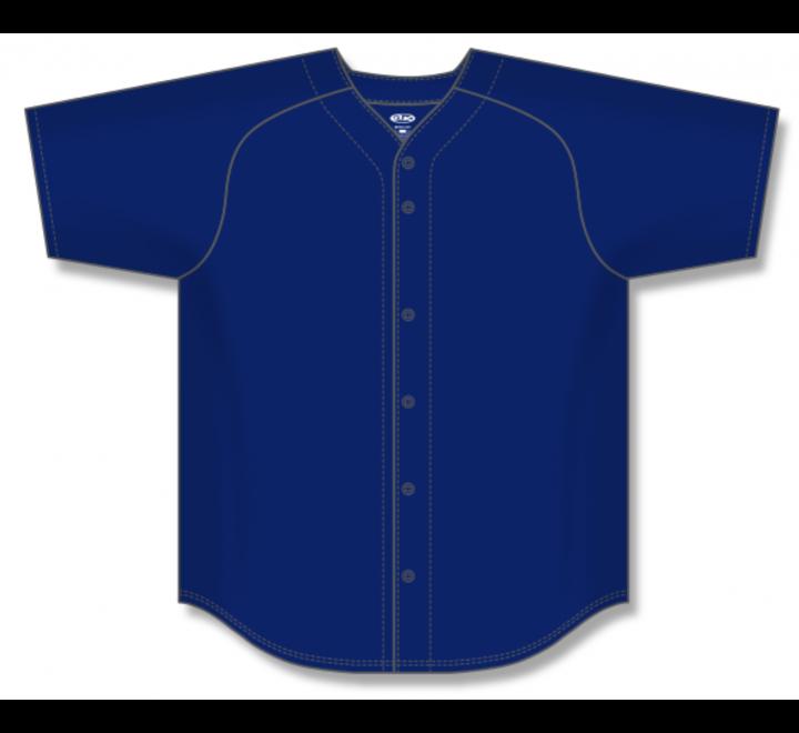 Full Button Baseball Jerseys - Navy