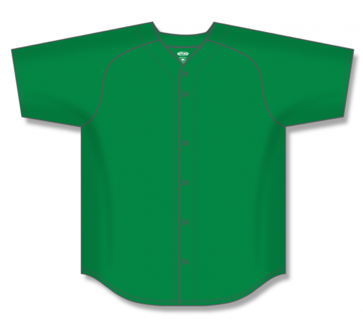 Full Button Baseball Jerseys - Kelly