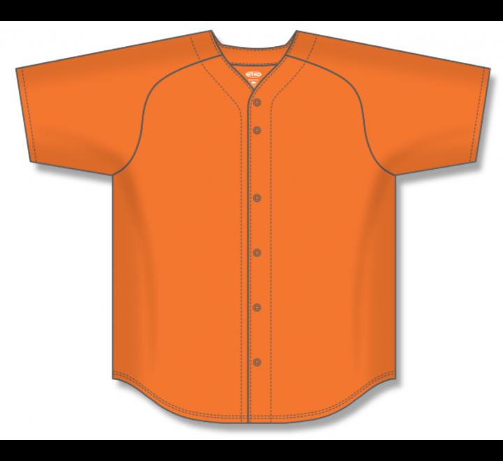 Full Button Baseball Jerseys - Orange