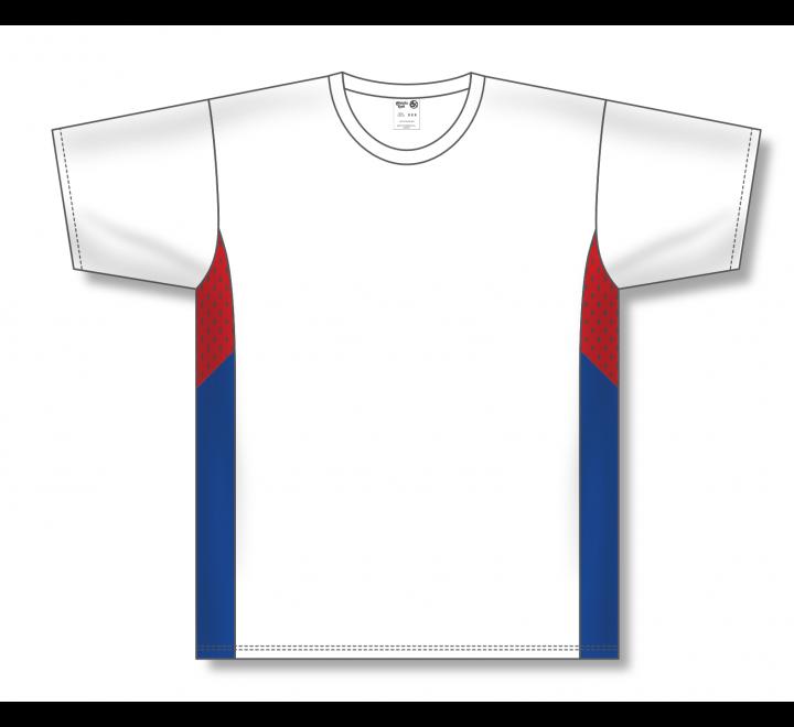 Pullover Baseball Jerseys - White/Red/Royal