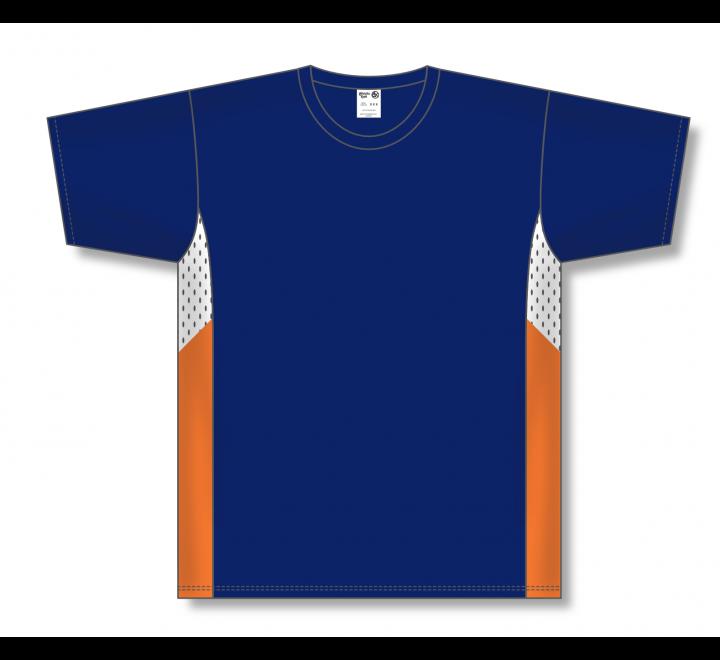 Pullover Baseball Jerseys - Navy/White/Orange