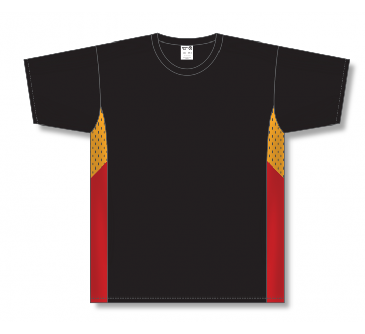 Pullover Baseball Jerseys - Black/Gold/Red