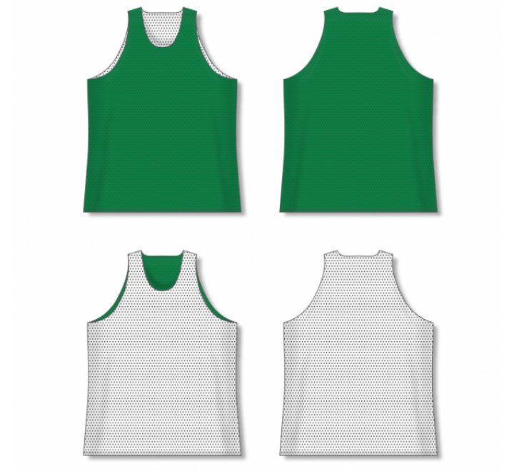 Polymesh TradItional Cut Reversible Basketball Jersey - Kelly