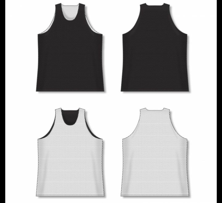 Polymesh TradItional Cut Reversible Basketball Jersey - Black