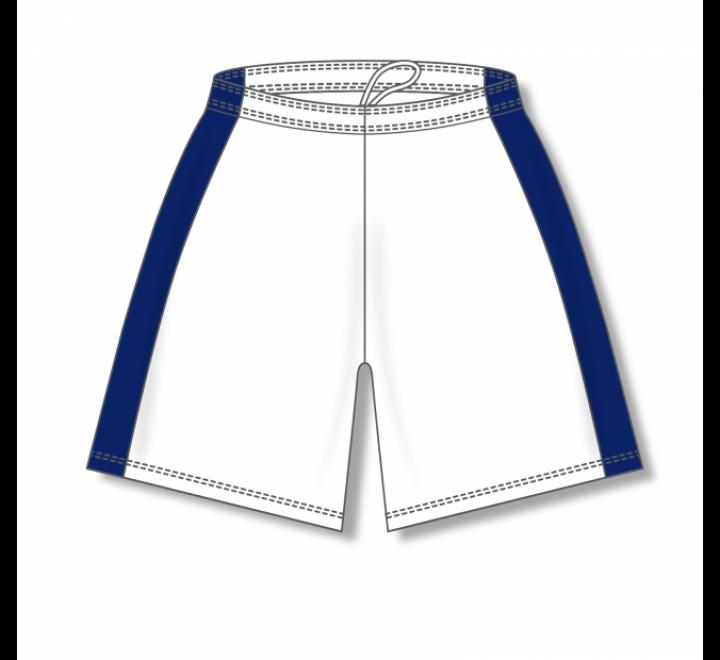 Dry-Flex with Side Inserts Basketball Shorts - White/Navy