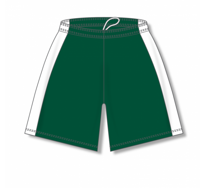 Dry-Flex with Side Inserts Basketball Shorts - Dark Green