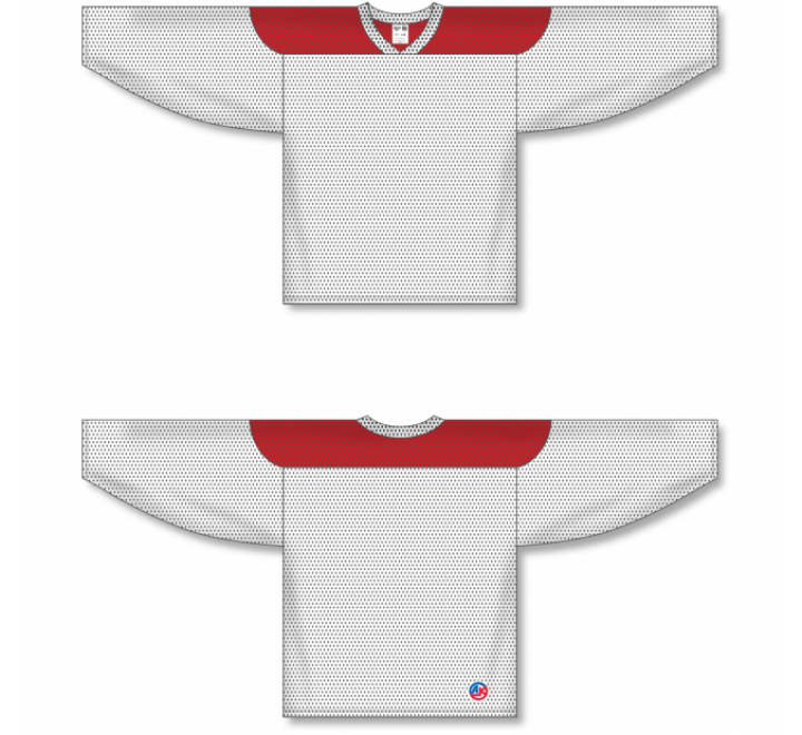 League Series Hockey Jerseys - White/Red