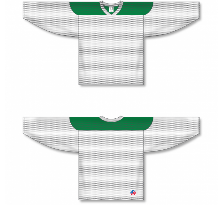League Series Hockey Jerseys - White/Kelly