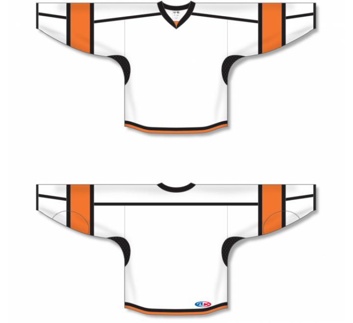 Select Series Hockey Jerseys - White/Orange