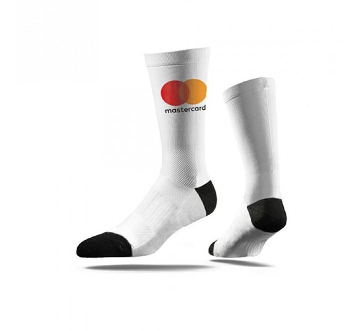 922-Economy One Press White Crew Socks