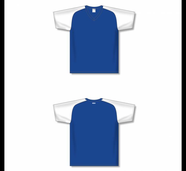 Custom Screen printed Soccer Jersey - Royal/White
