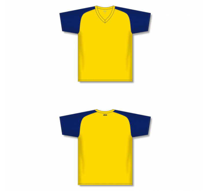 Custom Screen printed Soccer Jersey - Maize