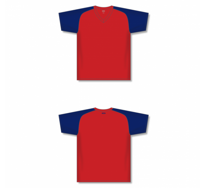 Custom Screen printed Soccer Jersey - Red/Navy