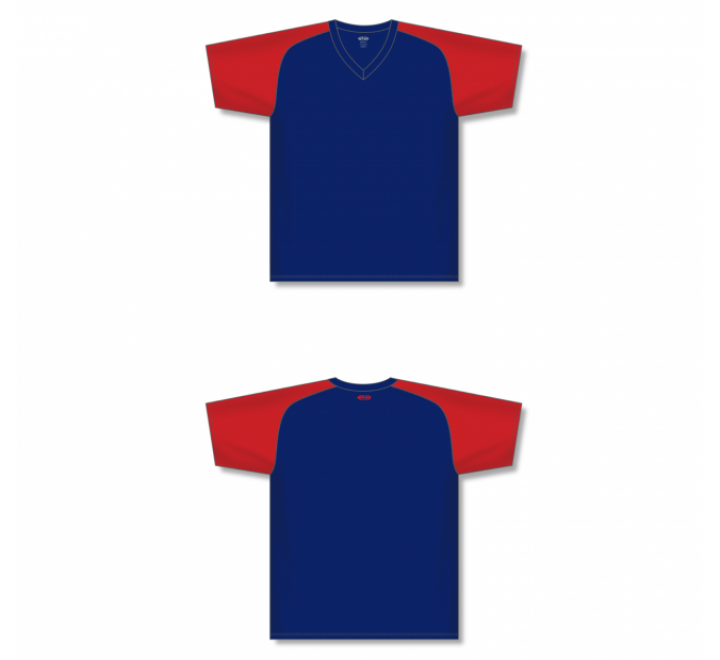 Custom Screen printed Soccer Jersey - Navy/Red