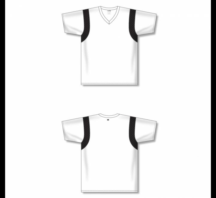 Custom Screen printed Soccer Jersey - White/Black