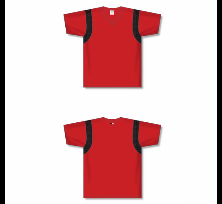Custom Screen printed Soccer Jersey -Red/Black
