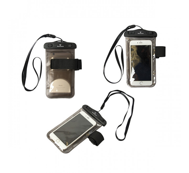 """Smartphone Pouch with Arm Band Waterproof PVC 4.12"""" W x 8.12"""" H"""