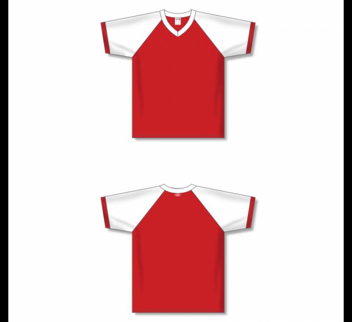 V-Neck Volleyball Jerseys - Red