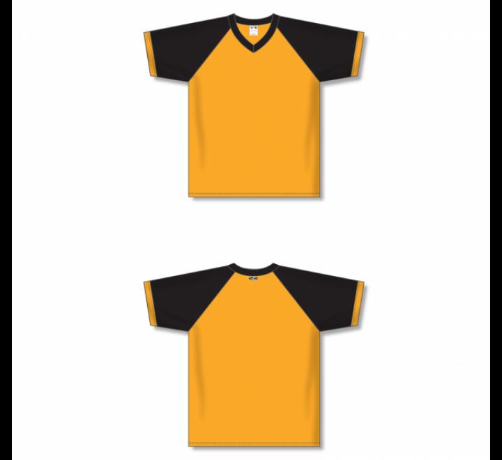 V-Neck Volleyball Jerseys - Gold/Black