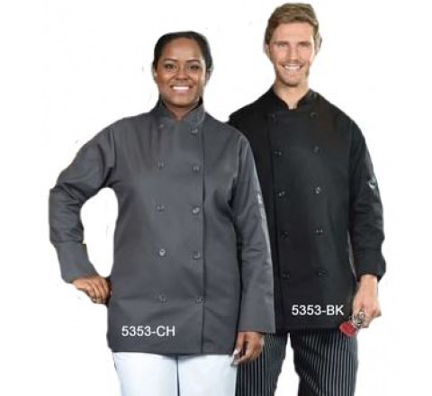 Chef Coats - Double Breasted Coloured 65/35 Poly/Cotton